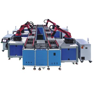食品包装机械手自动化生产线